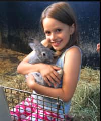 Ro with a bunny