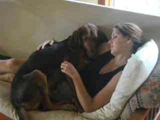 Helene and my baby barney, ok not a baby anymore but it doesn't matter