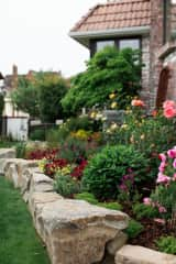Exterior Gardens with lots of outdoor covered and open seating areas