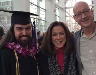 Sandi with son Wyatt (valedictorian) and his partner