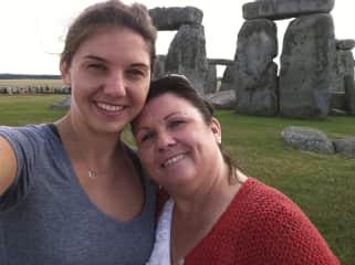 Mom and me at Stonehenge