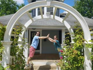 Me and Zachariah outside our home in Maryland