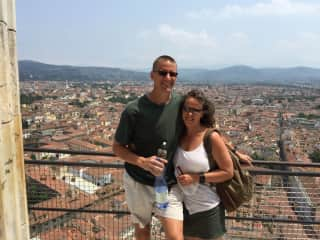 Nick and Michelle in Florence