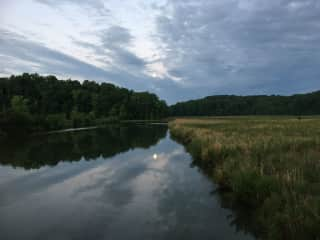 Fishing Creek Trail, Ches Bch, 5:30am on 5/27/21 - Morning following Pink Moon Eclipse