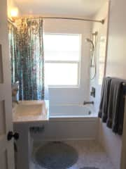 Your bathroom, but there is another, bigger bath with a large soaking tub you are welcome to use.