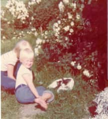 My sister and I circa 1975...