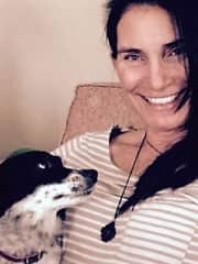 Rosie and me hanging out while house sitting.