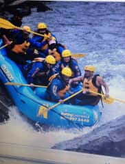 River rafting in Colorado with my Cousin.
