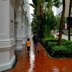 Exploring Singapore in the rain!