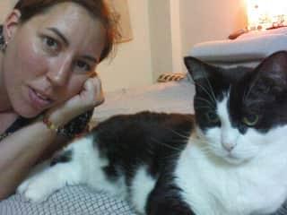 Natasha with Minou