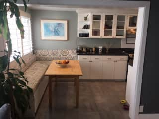 Kitchen nook from office