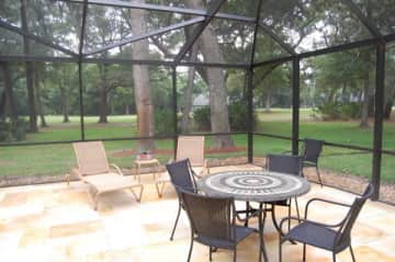 Screened Pool Area overlooking golf course