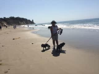 Madison and Mocha in Santa Barbara