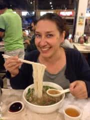 Me eating ramen in Chicago, USA
