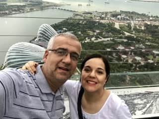 Julio and Ethel in Singapore