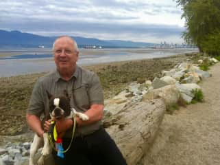 Spanish Banks with Karma, Vancouver  May 2017