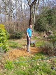 Michael at work in the garden