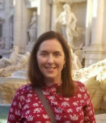 Colleen at Trevi Fountain