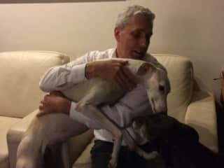 Fieke and me. She is a 3 year old Greyhound.