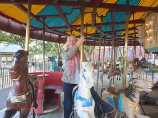 Riding a carousel in WashDC