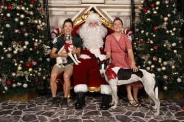 Oscar and Angela got to meet Santa!