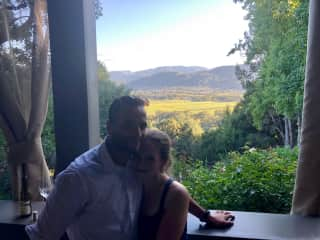 Adam and Mary on a wine tasting tour in beautiful Napa Valley, USA