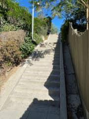 Steps to street
