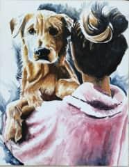 Golden on shoulder
