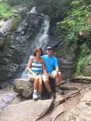 Patti and I love waterfalls!