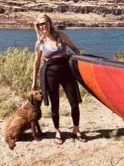 Kona & I kiteboarding