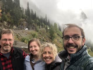 Glacier National Park with our kids.