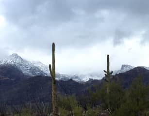 Sabino Canyon in the Santa Catalina Mountains -in winter. This is near where I teach but also the mountain range I do most of my hiking theses days.