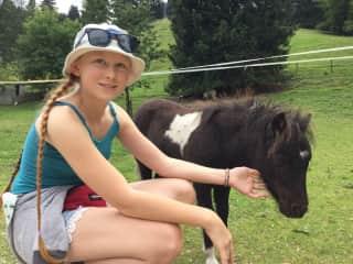 Lurlynne and a mini horse