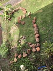 The beginning of a garden......
