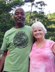 Fred and Ruth on our honeymoon in September 2020 in Kauai.
