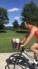 Cookie loves bike rides!