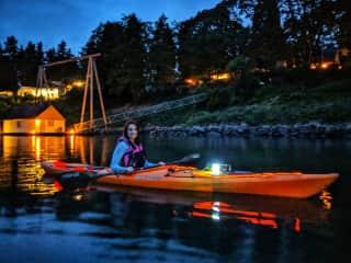 Kayaking the Willamette River. (Portland, OR)
