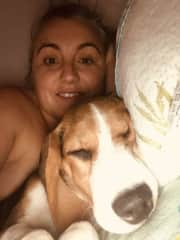 Me and beagle puppy Max
