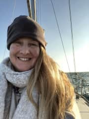 me in Barcelona, sailing