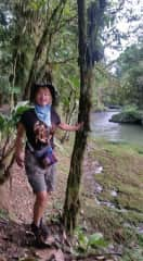 This is me in Puyo, Ecuador in May 2021. I was taking a nature walk with Michael Wanner who took this picture.