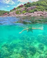 We also love the beach, specially snorkeling and diving
