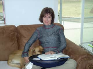 Me with the Haley many years ago. She loved to snuggle.