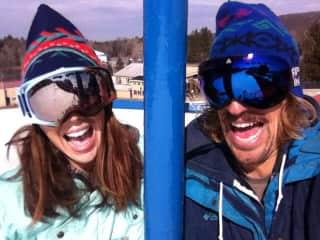 Keri and Aaron Ski