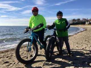 Fat tire bikes on the beach