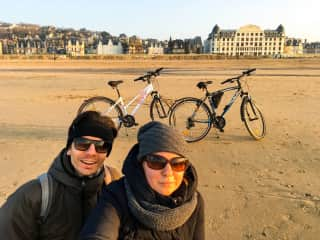 We love riding bicycles, even brought our own to the 7-month trip around Europe