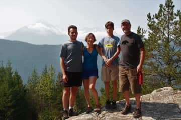 Martin, Karen Thomas, Matt - out on a day hike in BC while farm-sitting in Mission