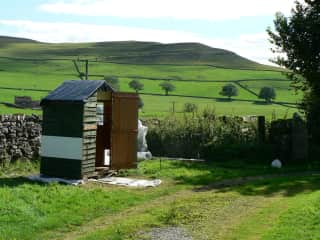 our hens have their own house situated in an idyllic location