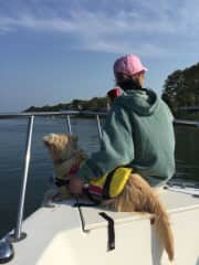 A boat ride with Buddy.