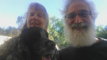 Lisa and Daniel and Penny . Child and dog sitting for our son and his wife Lindsay in Canyon Country California