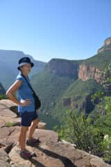 walking in South Africa along the canyon